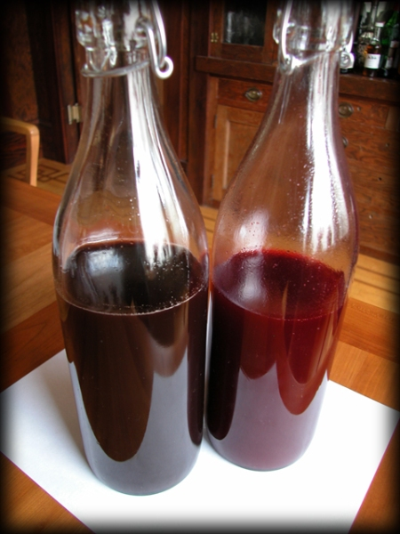 Bottled Raspberry/Blackberry and Black Cherry Balsamic Shrub